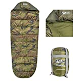 Kefi Outdoors Unisex Polyester Camo -5 Water Resistant Fleece Lined Sleeping Bag for Travel and...