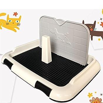 Dan Pet Doggy Training Potty Patch avec Mur Pad d'entraînement Portable Pet Park Toilette d'angle pour Chiens, 46 * 35 * 23CM