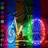 Activ Life Bicycle Spoke Lights (2 Tires, Color-Changing) Fun Accessory for Cool Beach Cruisers, Top Mountain, BMX Trick, Road, Recumbent, Commuting, Tandem, Kids & Folding Bike Best Wheel Lights