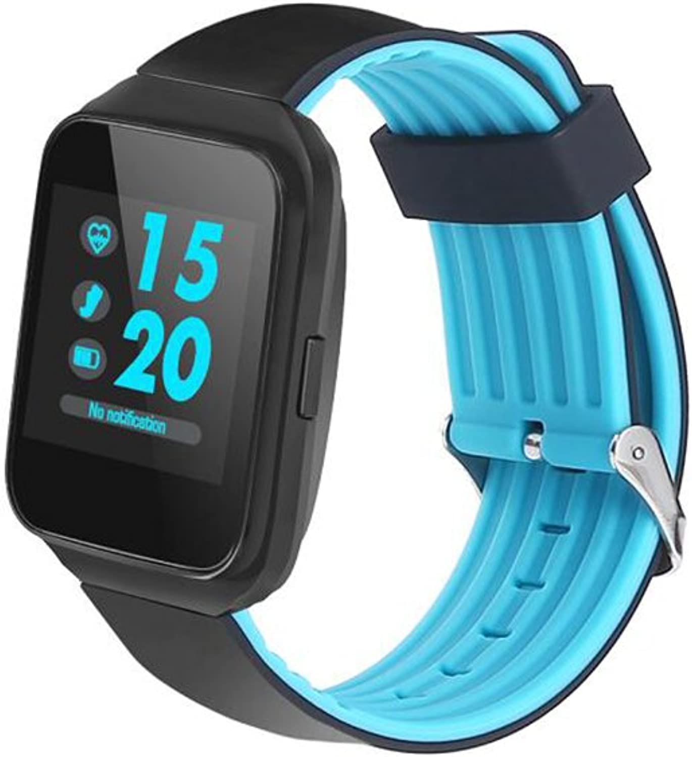 Heart Rate Smart Bracelet,Fitness Tracker HD Round Screen Healthy Blood Pressure Sleep Detection blueeetooth Sport Step Counter for Android,iOS