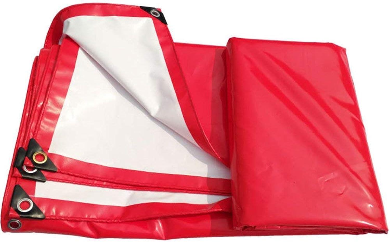 SSYBDUAN Plane, wasserdicht und langlebig Dicke Leinwand für Outdoor-Picknick-Fahrzeug Camping, Dicke 0,43 mm, rot, (3m × 4m) (Farbe   -, gre   3m × 4m)