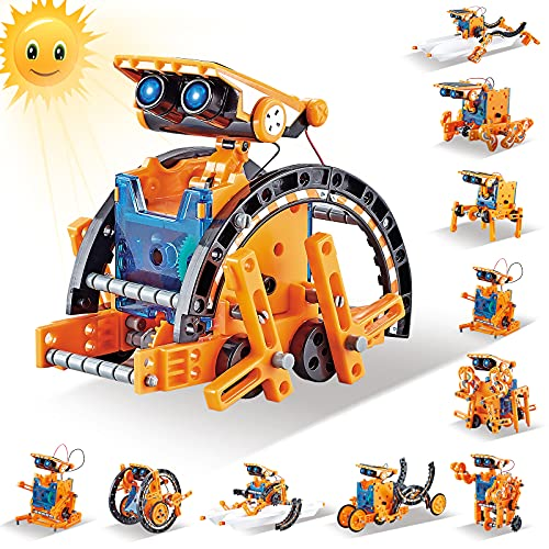 HISTOYE 12 in 1 Solar Robot Kit for Kids 6-8 Engineering Education Stem Projects Science Kits for Kids Age 8-12 Building Sets Robotics Kit for Kids Toys for 5 6 7 8 9 10 11 12 Year Old Boy Girl Gifts