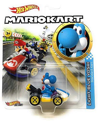 Hot Wheels Light-Blue Yoshi Mariokart Character Car Diecast 1:64 Scale