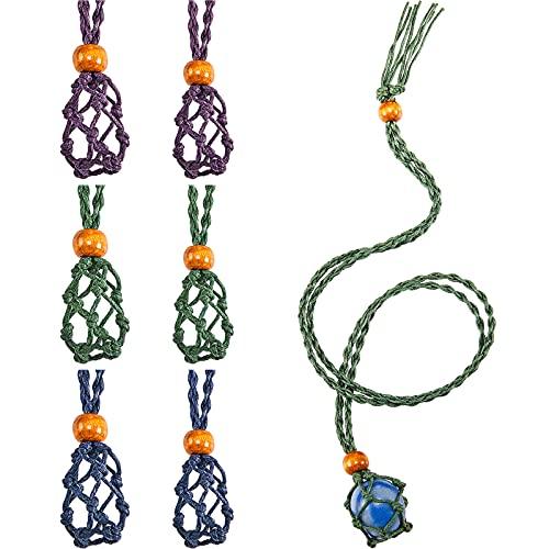 6 Cordones de Collar Soporte de Piedra Vacío Soporte Collar Vacío Cuerda...