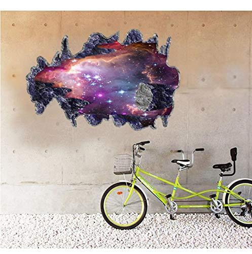 Blue Universe Galaxy Planet Kinder Wandaufkleber für Kinderzimmer Kinderzimmer Baby Schlafzimmer Home Decoration Decals Wandbilder