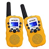 Retevis RT-388 Kids Walkie Talkies 22CH LCD Display Walkie Talkies for Kids(Yellow,1 Pair)