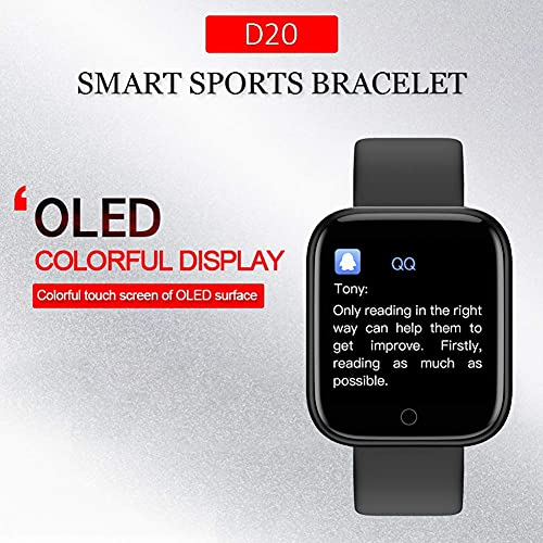 Exim D20 ID116 Plus Bluetooth Smart Fitness Band Watch with Heart Rate Activity Tracker Waterproof Body, Step and Calorie Counter, Blood Pressure [20] OLED Touchscreen for Men & Women