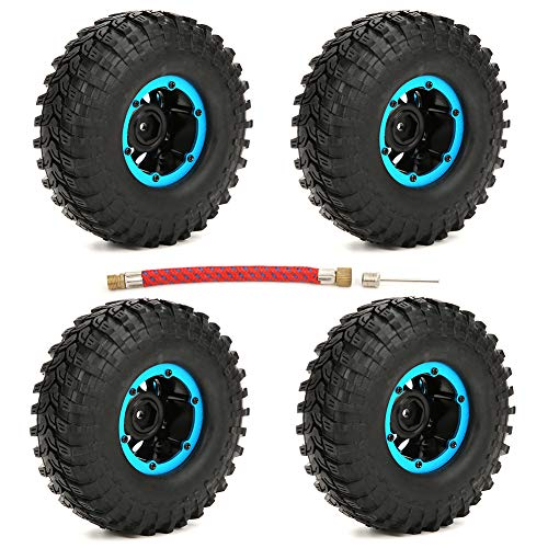 Tbest Neumático RC, 1.9in 100mm Inflable RC Crawler Tire Neumáticos de Rueda inflados Accesorios de Repuesto para 1/10 RC Car