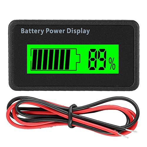 Fantastic Deal! Universal Battery Capacity Indicator Tester Voltmeter with LCD Display, 12-48V Batte...
