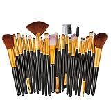 SUN HUIJIE 25 Stöcke Make-up Pinsel-Set Frau Beauty-Tools Lidschattenpinsel Augenbrauenpinsel Blush Pinsel (Farbe : D)