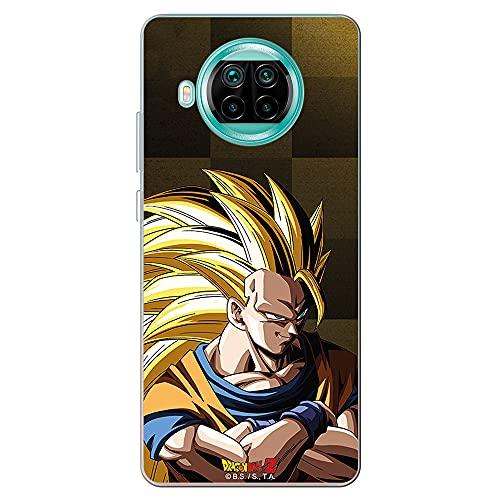Movilshop Funda para [ Xiaomi Mi 10T Lite 5G ] Dragon Ball Oficial [Goku Super Saiyan Nivel 3 Fondo Dorado] Toei Animation de Silicona Flexible Transparente Carcasa Case Cover Gel para Smartphone.