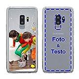 MXCUSTOM Cover Personalizzata per Samsung Galaxy S9+ S9 Plus, Custodia Personalizzate con Foto Immagine Testo Design Crea Le tue [Paraurti Morbido Trasparente+Piastra Posteriore Rigida] (CHT-CR-P1)