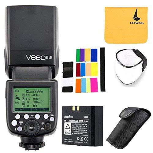 Godox Ving V860II-S 2.4G TTL Li-on Batteria Fotocamera Flash Speedlite per Sony HVL-F60M, HVL-F43M, HVL-F32M(V860II-S)