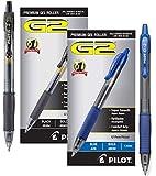 Pilot G2 Retractable Premium Gel Ink Roller Ball Pens Bold Point (Black/Blue, 24-Combo Pack)