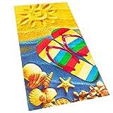 Softerry Sandals Flip Flop Sunny Beach 30 x 60 inches Beach Towel...