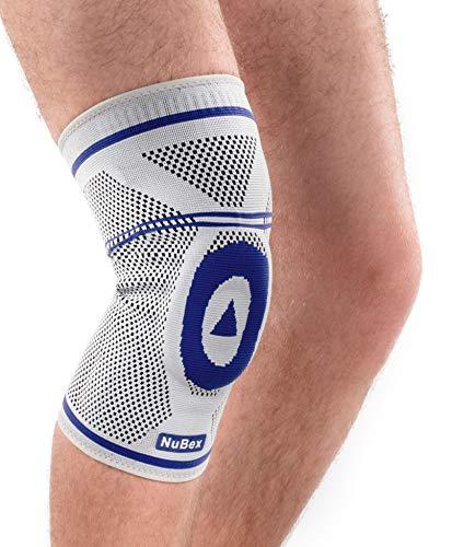 Nutrics | Aktiv Kniebandage | Damen und Herren | Mit Patellapad aus Silikon und seitlichen Spiralstangen | Links und rechts (L)