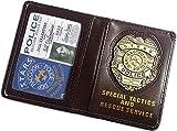 Soporte para tarjetas de identificación de Resident Evil Biohazard S.T.A.R.S RPD de cuero con insignia de metal