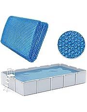 Rechthoekige zwembadafdekking op zonne-energie, stofdicht, zwemmen, waterfeest, zwembad, isolatiefolie, stof, afdekzeil, regenbestendig