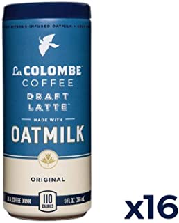 La Colombe Oatmilk Original Draft Latte - 9 Fluid Ounce, 16 Count - Plant-Based, Dairy-Free - Made With Real Ingredients - Grab And Go Coffee