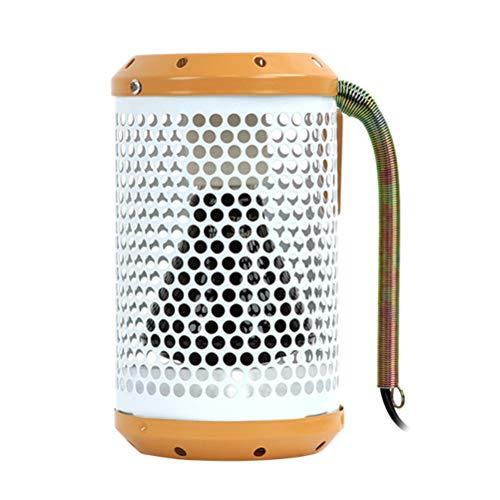 Ububiko Calentador de Ventilador, Calentador de cerámica para Mascotas de 100 vatios, Calentador Muy silencioso, Ahorro de energía para Sala de Estar, baño, Oficina, Mascota de Camping