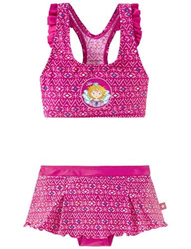 Schiesser Mädchen Aqua Prinzessin Lillifee Bustier Bikini, Rot (Fuchsia 508), 98 (Herstellergröße: 098)