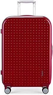 XLHJFDI Lightweight Luggage Travel Suitcase,Business Trolley Case,ABS+PCTravel Totes Hand Luggage,Universal Wheel Trolley Case,Size : 42×24.5×65cm (Color : Red)