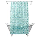 Zenna Home, India Ink Morocco Peva Shower Curtain Liner, Teal