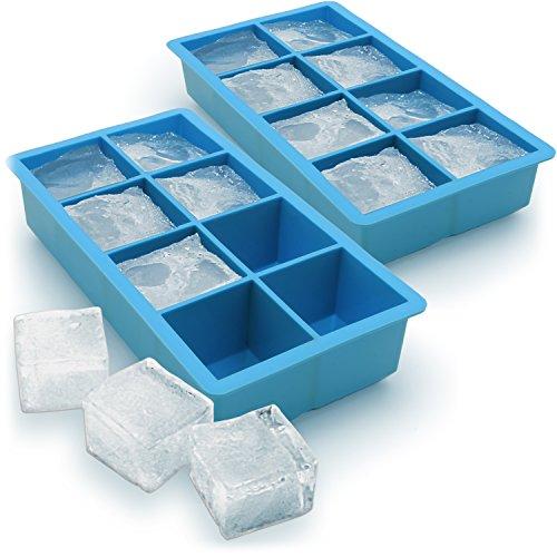 igadgitz Home Cubitera de Hielo 8 XL Cubos Cubitera Silicona de Calidad Alimentaria - 2 Piezas