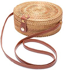 ♥ If you are a fashionista, this is the best choice for you. This bag brings nature, unique and chic! ♥ 100% HANDMADE, NATURAL, UNIQUE AND CHIC: Made from 100% natural rattan fiber with elaborate handwoven knit by Vietnamese and Bali (Indonesia) Arti...