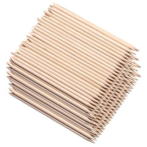 200 pezzi di bastoncini per unghie in legno arancione, HOOMBOOM Double Sided Multi Functional Cuticle Pusher Remover Strumento per pedicure manicure per pedicure manicure