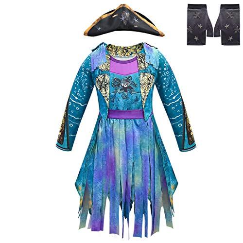 FINDPITAYA Disfraces AnimeDescendientesCos 3 Mal/Evie/Belle/UMA Halloween Niñas Cosplay Costume