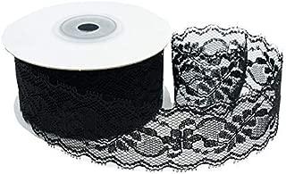 CT CRAFT LLC Delicate Black Lace Ribbon, 1.5