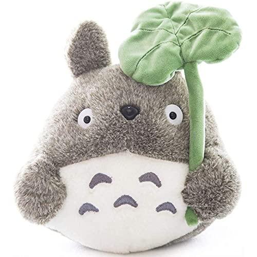 PDPDE 25 cm / 9.84 Pulgadas Totoro Muñeca de Peluche de Peluche de Peluche de Peluche Lanzar Almohada Decorativo Holiday Cumpleaños niño Novia Regalo (Hoja de Loto, 25 cm / 9.84 Pulgadas)