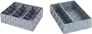 WENKO Organiseur de salle de bains Adria avec poignée gris - 32 x 10 x 21 cm, Gris & Organiseur de cuisine Adria M - avec ...