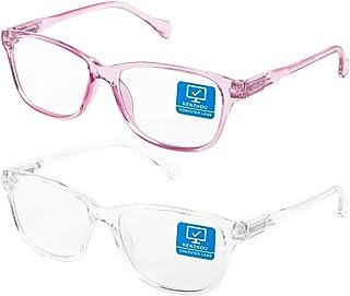 Blue Light Blocking Computer Glasses 2 pack For Women & Men Anti Eyestrain & UV 400 Glare Nerd Reading Gaming Glasses