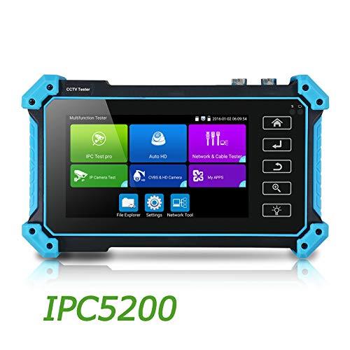 5-in-1 CCTV-Tester, 5 Zoll Touchscreen, Monitor bis zu 4K IP-Kamera & 720P/1080P/3.0MP/4.0MP/8.0MP AHD, TVI, IP, SDI & CVBS, Analog-Kamera, mit Tastatur/IP-Discovery/Rapid/ONVIF/HDMI/VGA/POE/12V