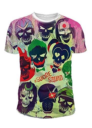 Suicide Squad DC Comics - Camiseta para hombre (tallas S-XL), diseo con logo de sublimacin multicolor M