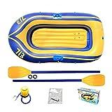 HOUADDY Kayak Inflable para Dos Personas, Bote Plegable de PVC Resistente al Desgaste, con Accesorios para Deportes acuáticos, Pesca y Entretenimiento.
