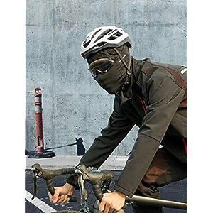 ROCKBROS Pasamontañas Anti Viento Transpirable para Deportes al Aire Libre Bicicleta Motocicleta Snowboard Esquí Ciclismo para Otoño Invierno Hombre y Mujer, Negro