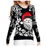 Ugly Christmas Sweater Style Funny Women Sweatshirt...