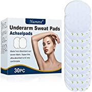 Underarm Sweat Pads, Armpit Sweat Pads, Anti Sweat Pads, Odor Deodorant, Made from Absorbent non woven fabric, Super-thin, Invisible, Self Adhesive, Comfortable, Armpit Protection, Large Size, 30PC