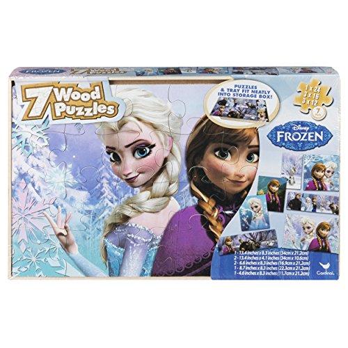 Disney congelés 7 bois Puzzles en boîte de rangement en bois (USA importation)