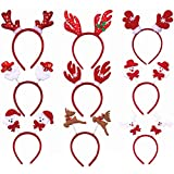 toymytoy 12pcs christmas headbands hair hoop christmas headwear for party costume accessories
