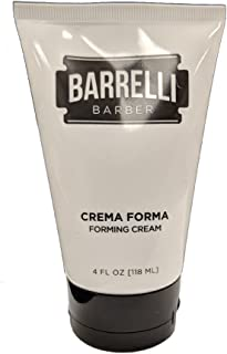 Barrelli Barber Crema Forma Forming Cream | Medium Hold | Hair Styling Cream | Matte Finish | Paraben, Gluten and Cruelty free | Made in the USA