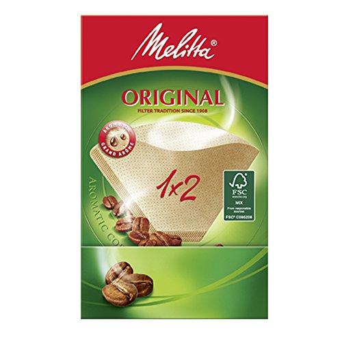 Melitta Filtertüten 1x2/80 naturbraun, 9er Pack (9 x 80 Stück)