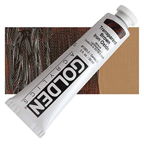 2 Oz Heavy Body Acrylic Color Paints Color: Transparent Brown Iron Oxide