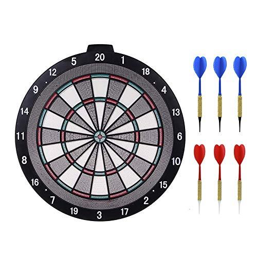 HWHSZ Safety Darts Board Set, Target Dartboard Set mit 6 Darts, Darts Target für Kinder Adults Office und Home Entertainment Game