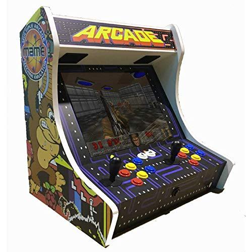 """SATYCON Maquina Arcade BARTOP PI 64GB WiFi 19"""" 2 MANDOS"""