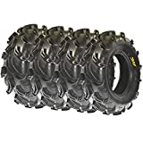 Sun.F A048 ATV Mud Tires 26x9-12 Front & 26x11-12 Rear, Set of 4