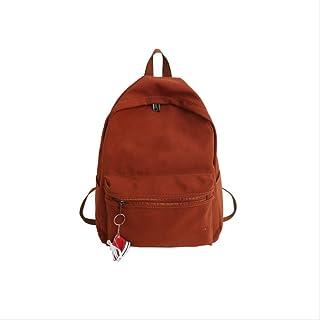RUJNGYSVB Backpack Exquisite Embroidery Women Backpack Female Waterproof Nylon Backpacks Shoes Hanging Schoolbag 32cm14cm41cm orange